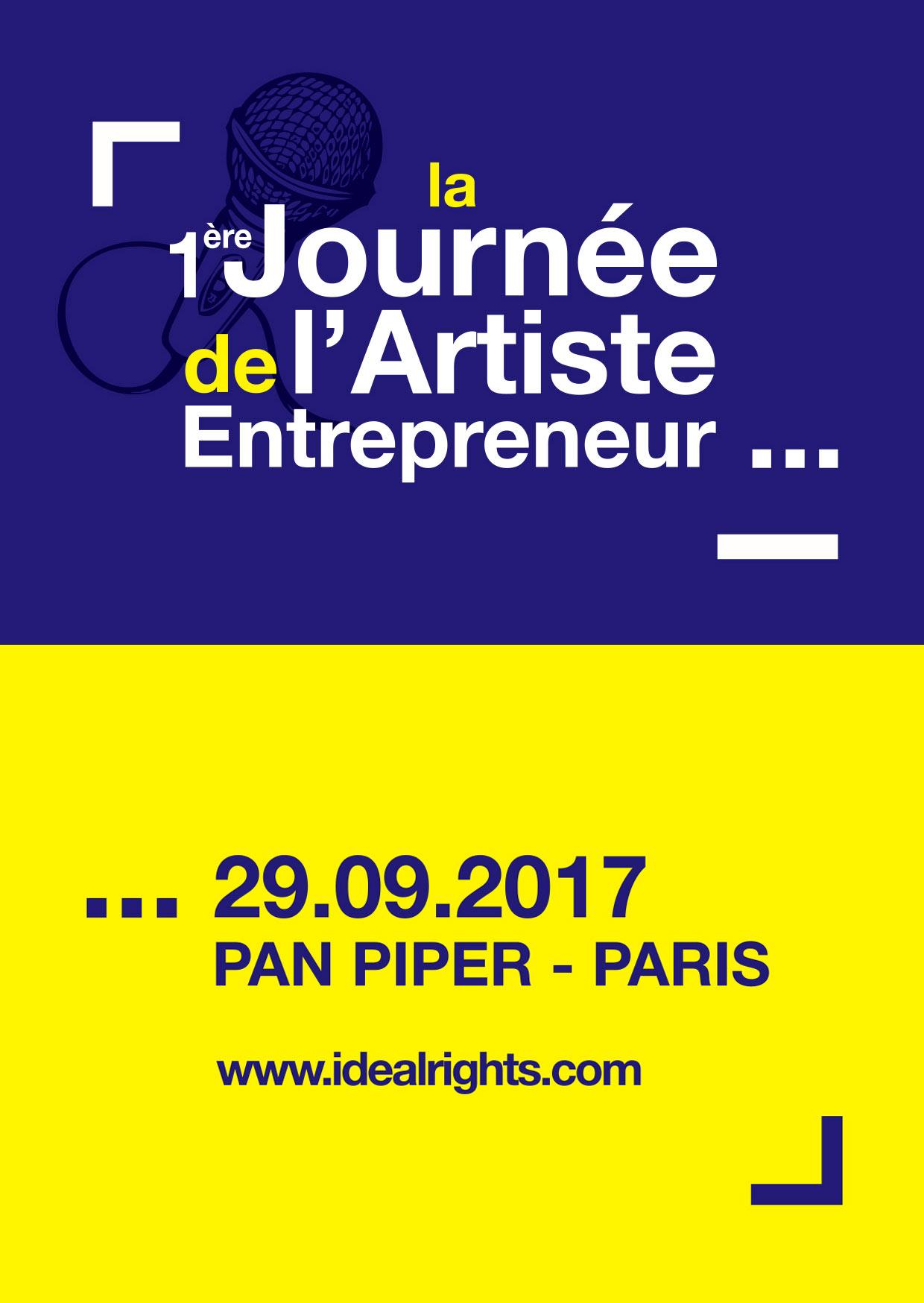 Image journée de l'artiste entrepreneur, le 29 09 2017